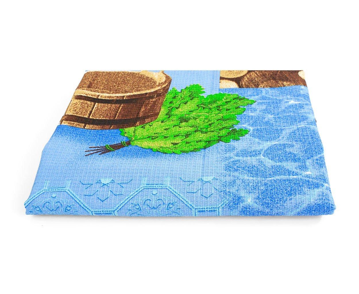 Банный день - вафельные полотенца, простыни для сауны Elin
