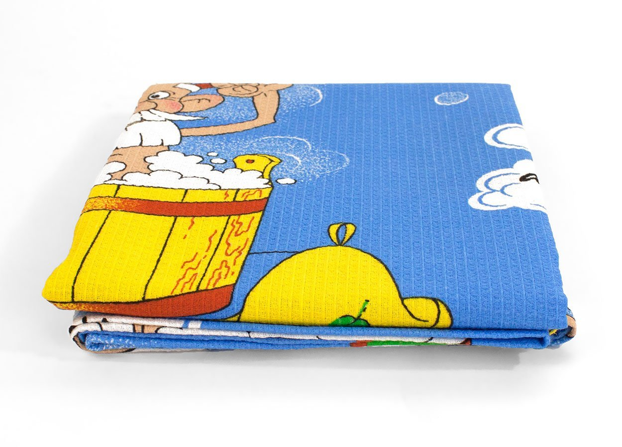 Дед в бане - вафельное полотенце Elin