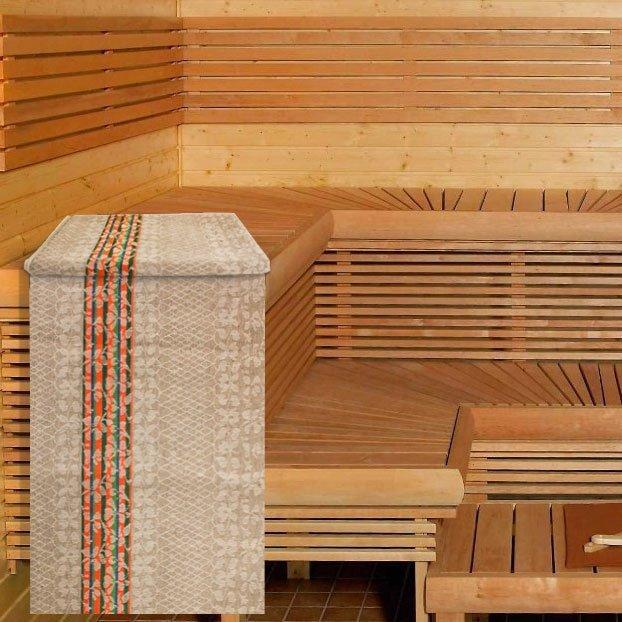 10с334 Декор - льняные полотенца, простыни для сауны Elin