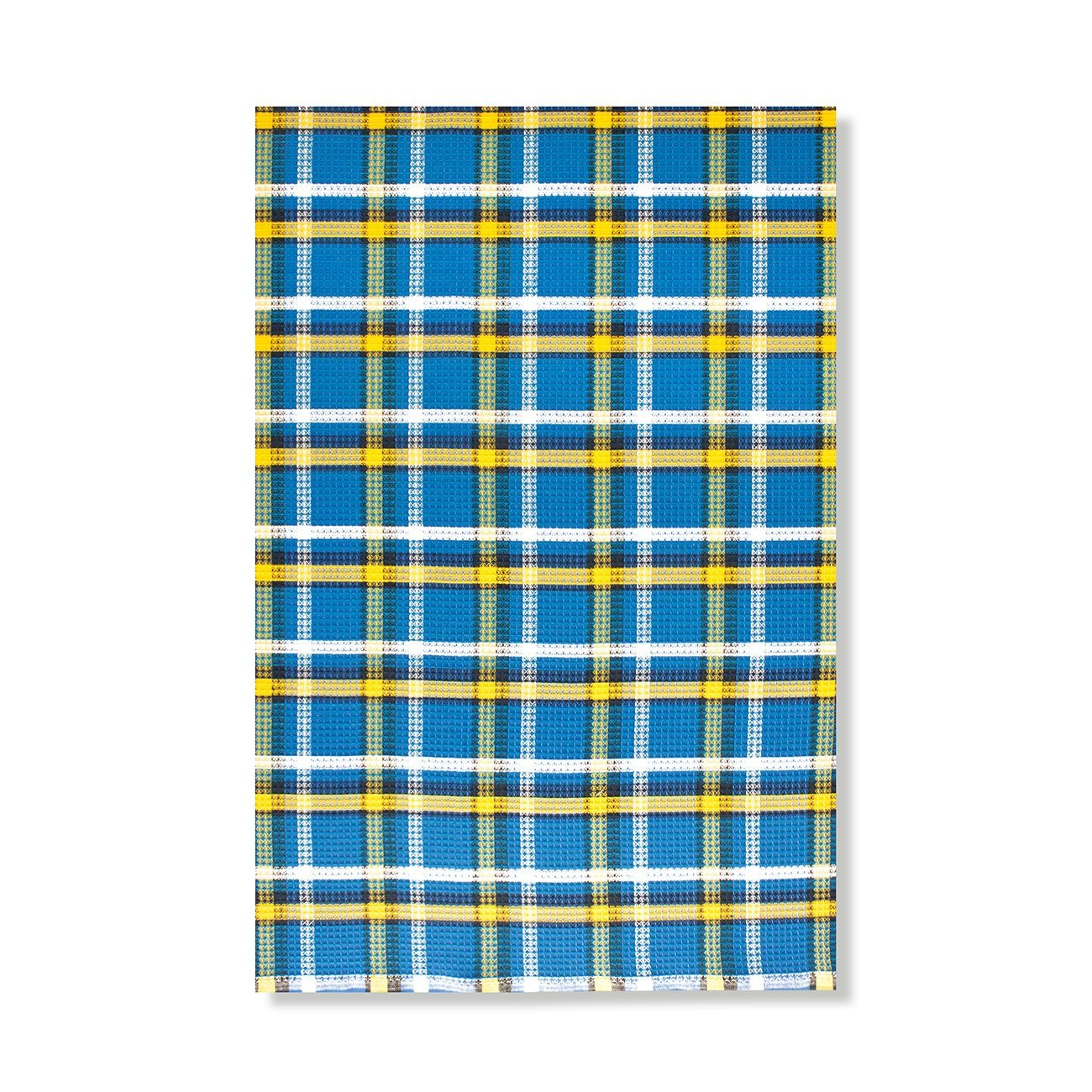 Клетка сине-желтая - полотенце вафельное, пестротканное Elin