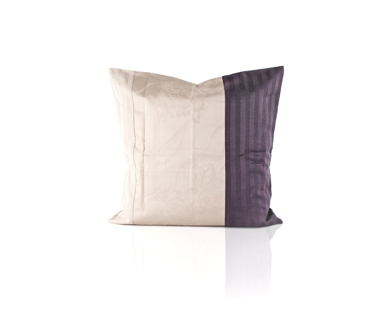 Наволочка из страйп-сатина Полоска 1x1 комби-4 серо-фиолетовый Elin