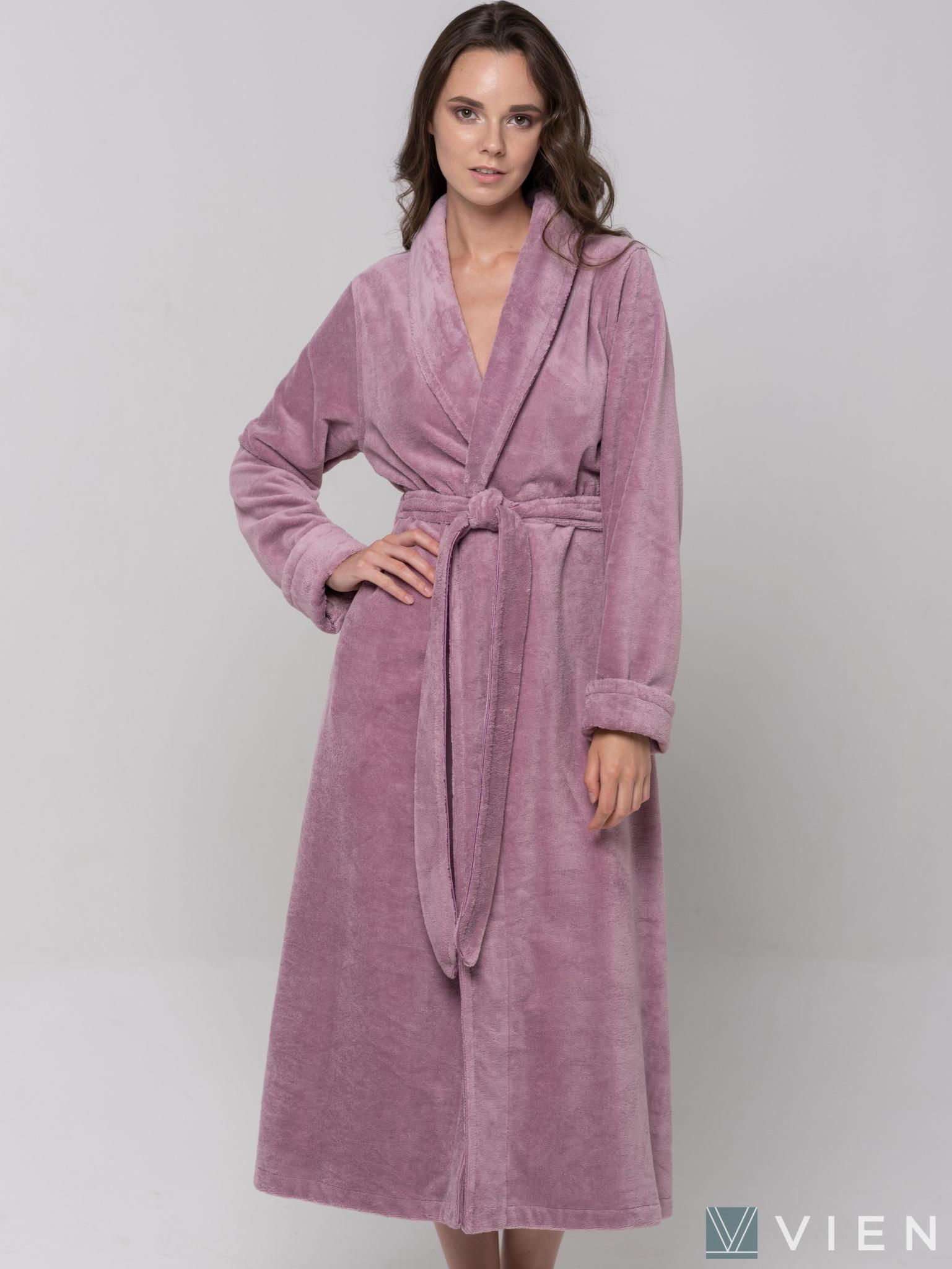 Женский длинный халат 1095 Good Night лиловый Wien