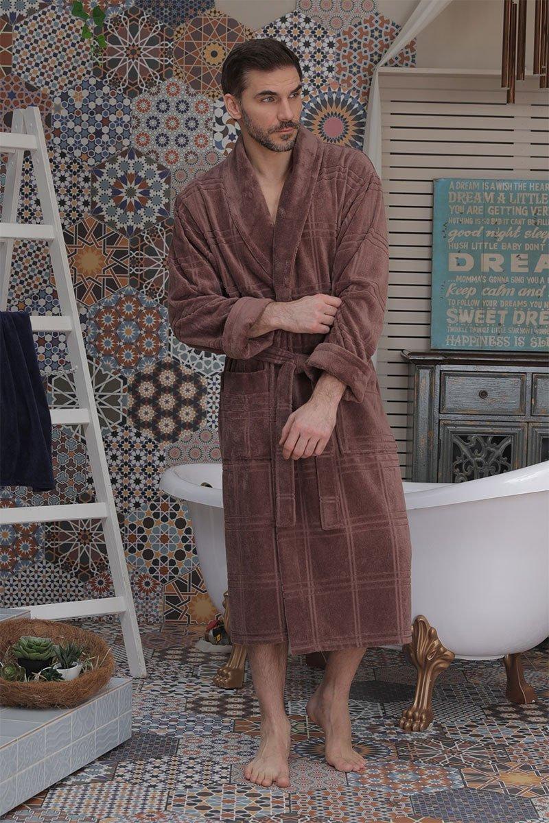 Мужской бамбуковый халат 575 Comfort капучино Five wien