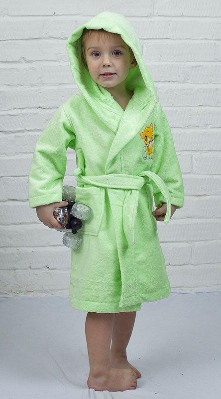Детский салатовый халат Baby из бамбука Five Wien