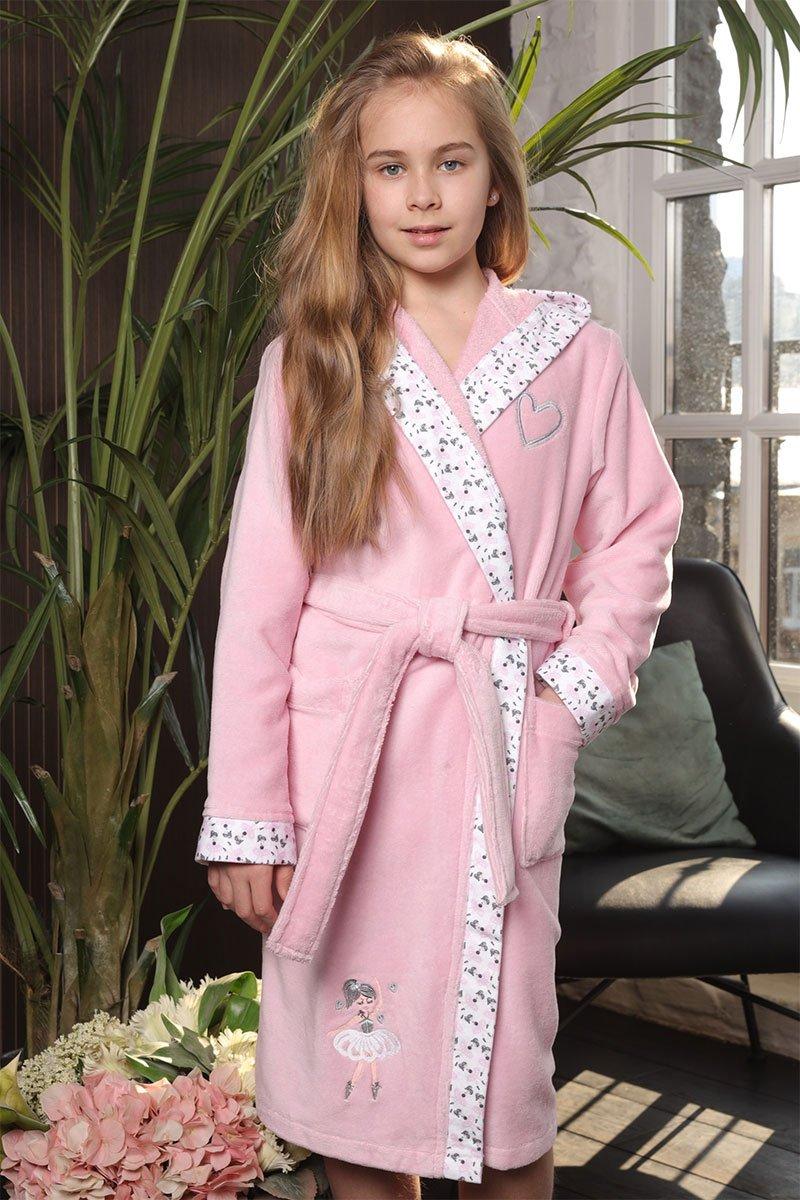 Детский халат с капюшоном Balerinka Розочка Five Wien