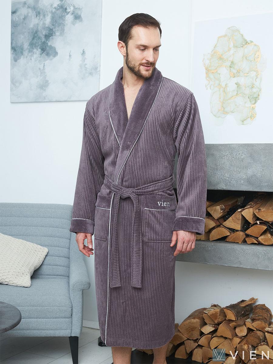 Мужской бамбуковый халат Mark 2 мокко Five wien