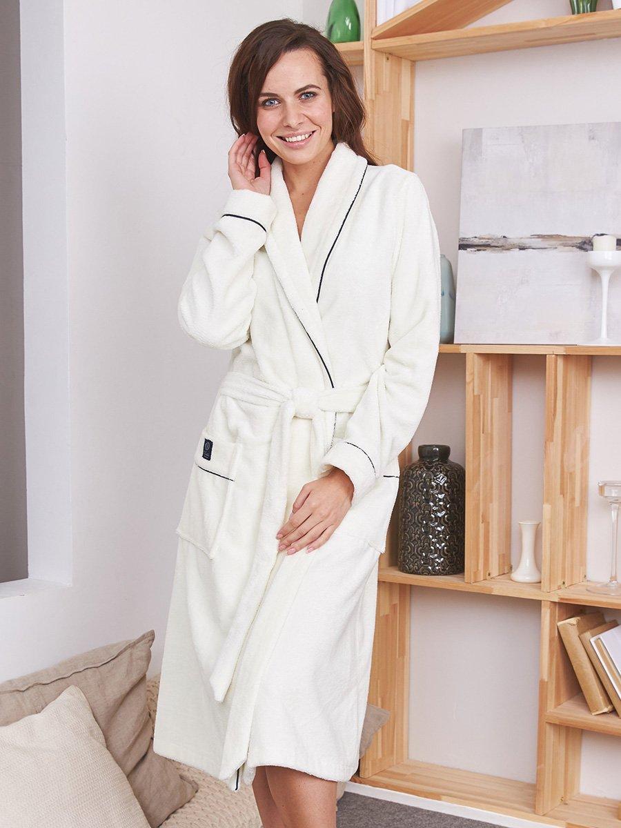 Женский бамбуковый халат Trendy кремовый Five Wien