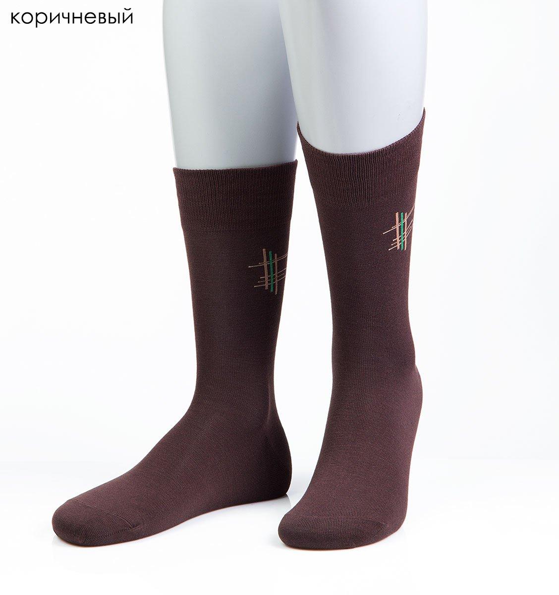 Мужские носки с вышивкой 15D14 Grinston