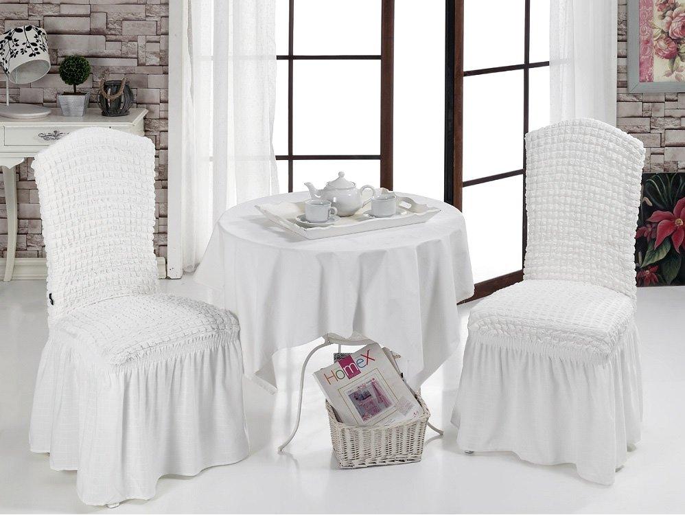 Чехлы на стулья 2 шт Bulsan белый Karna