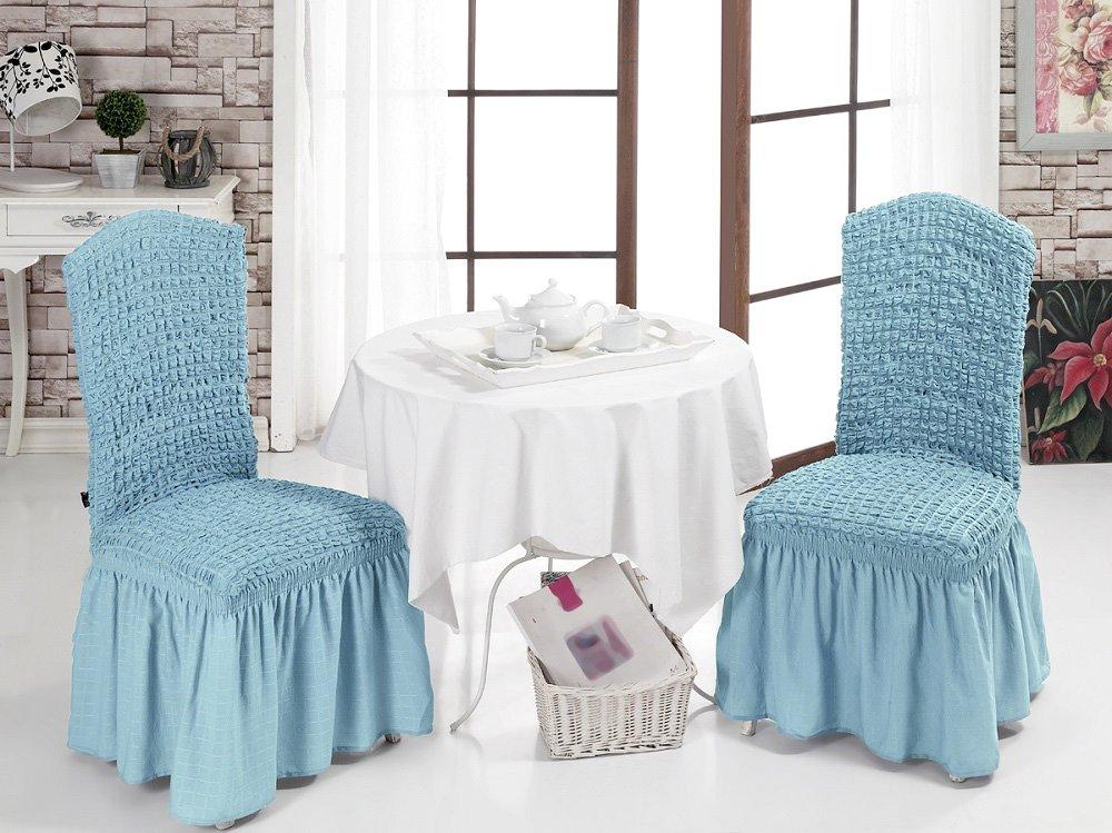 Чехлы на стулья 2 шт Bulsan бирюзовый Karna