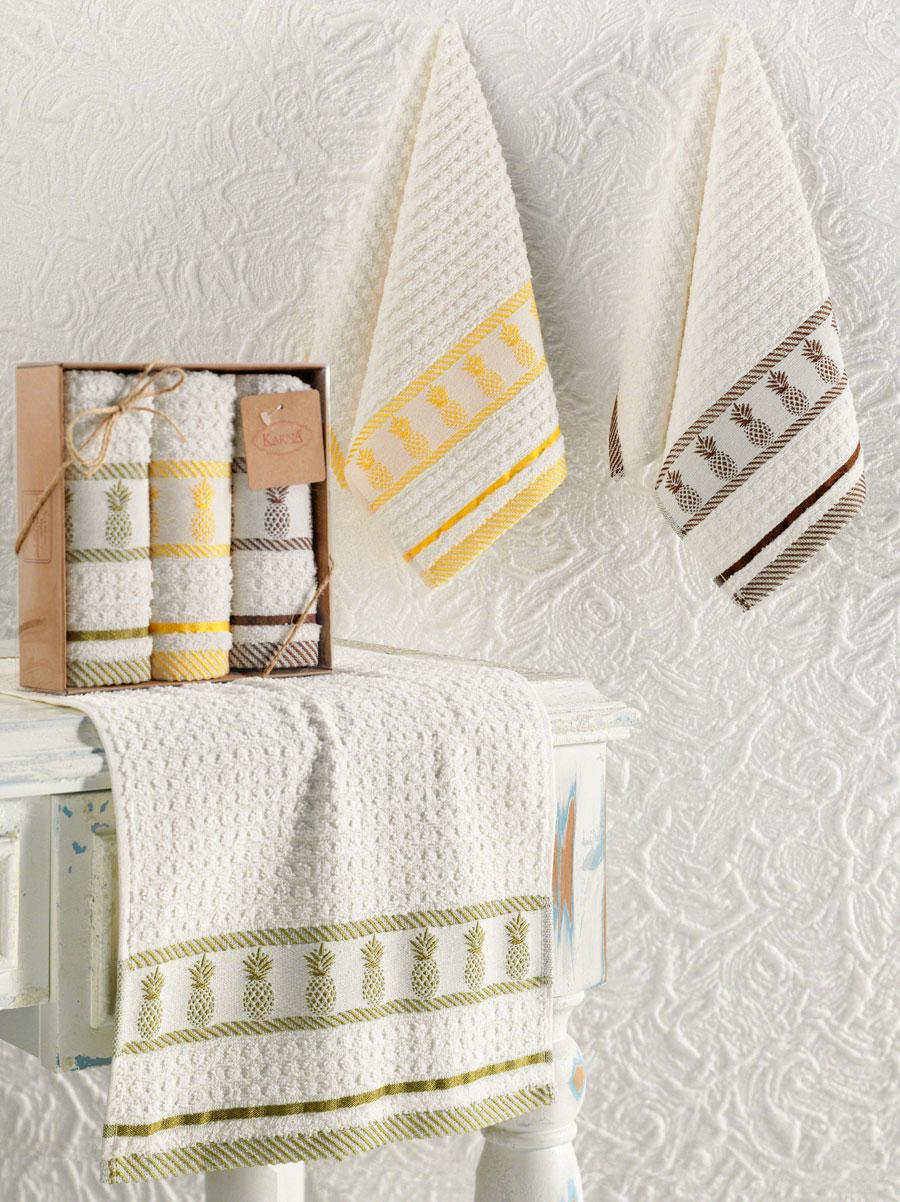 Комплект махровых полотенец 30x50 (3 шт) 3399 Pineapple Karna