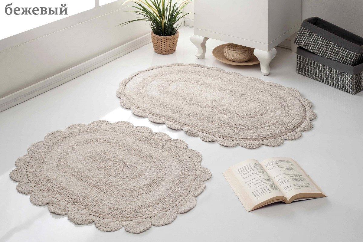 Комплект ковриков с кружевом (40x60+50x80 2шт) Diana Modalin