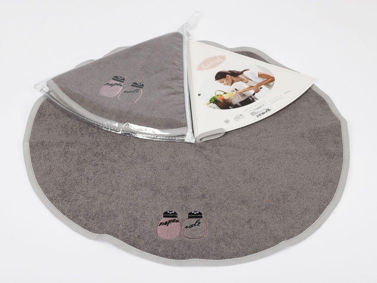 Полотенце-салфетка круглая, махровая (50 см) 1 шт Zelina V2 Karna