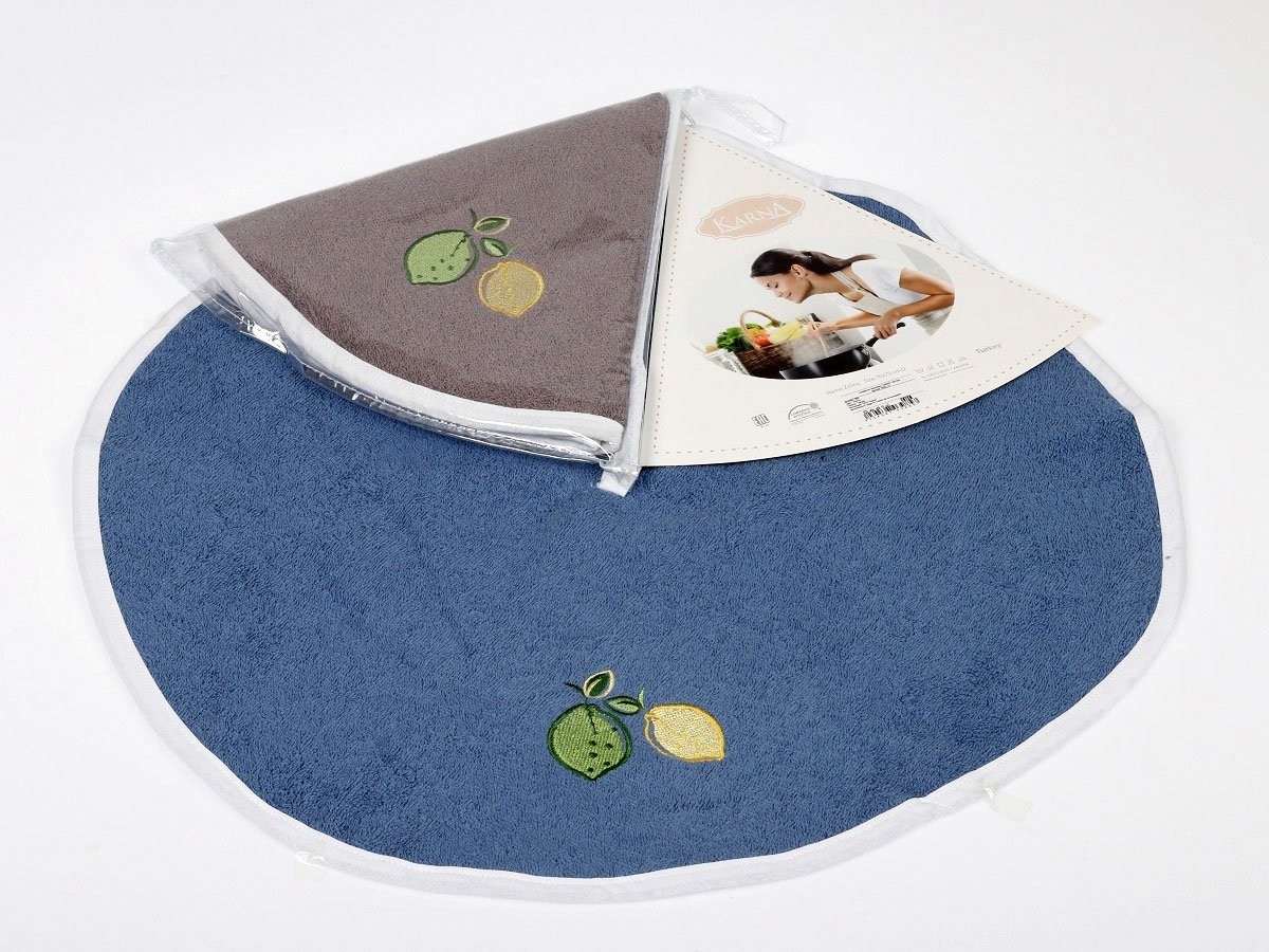 Полотенце-салфетка круглая, махровая (50 см) 1 шт Zelina V3 Karna