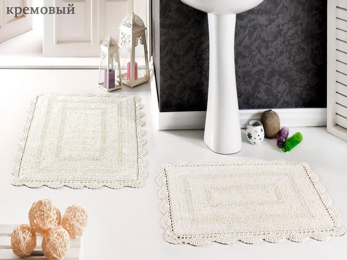Комплект ковриков с кружевом (50x70+60x100 2шт.) Evora Modalin
