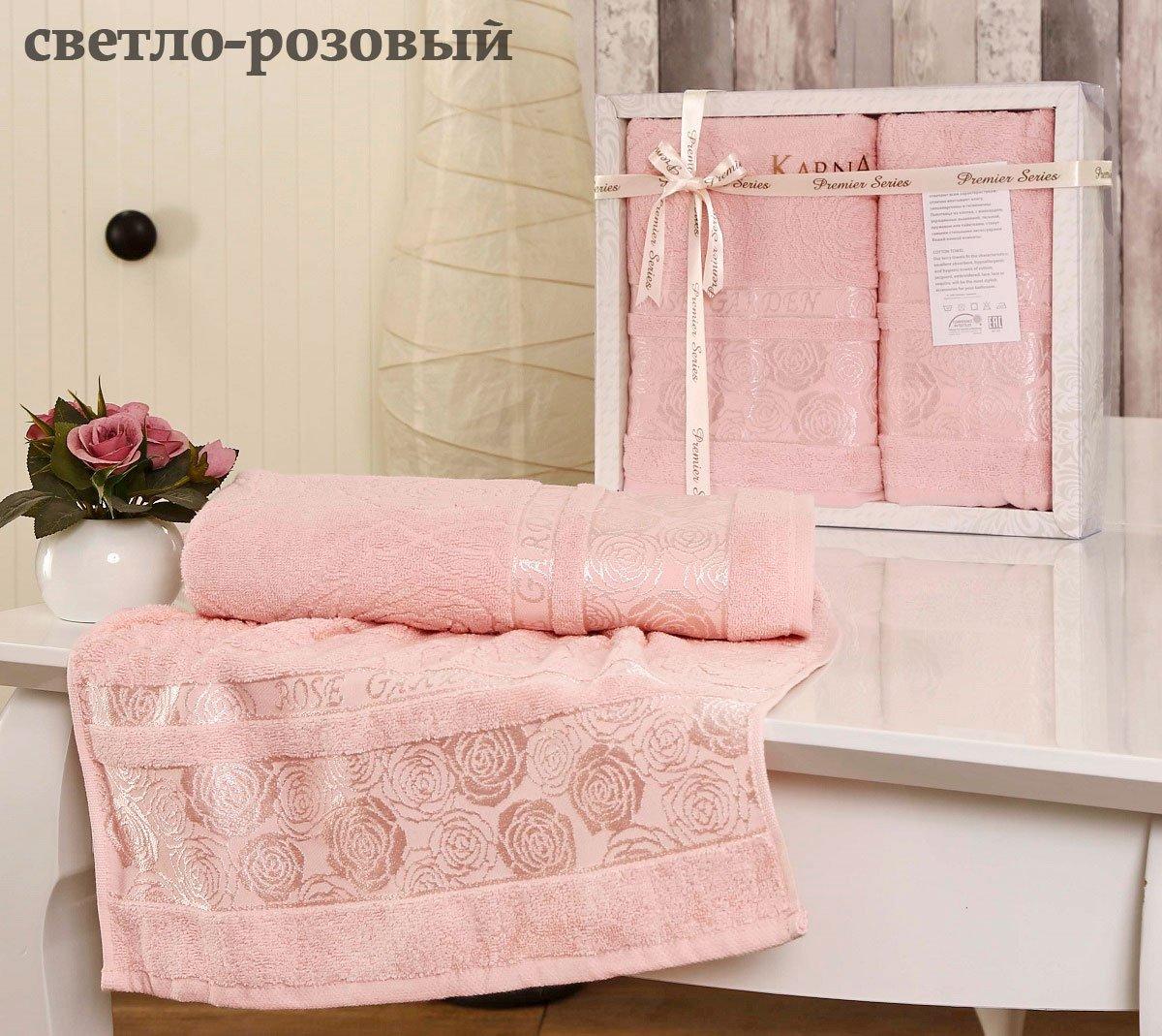 Комплект махровых полотенец (50x90+70x140) Rose garden Karna