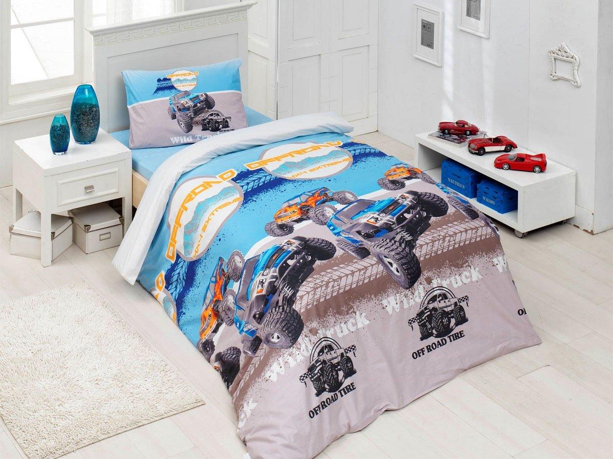 e5377293ec061 Детское постельное белье из ранфорса Wild truck Altinbasak: купить ...