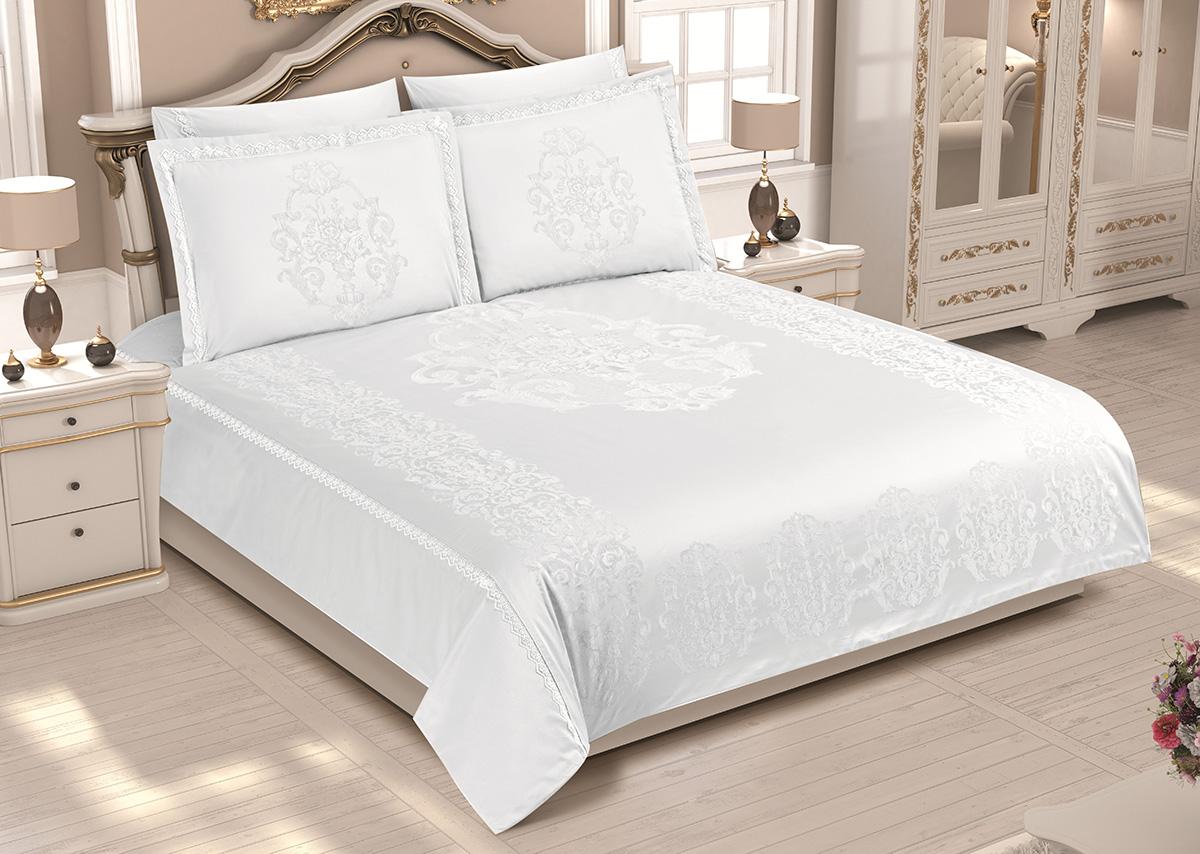 Бамбуковое постельное белье с гипюром Adrienne кремовый Maison Dor