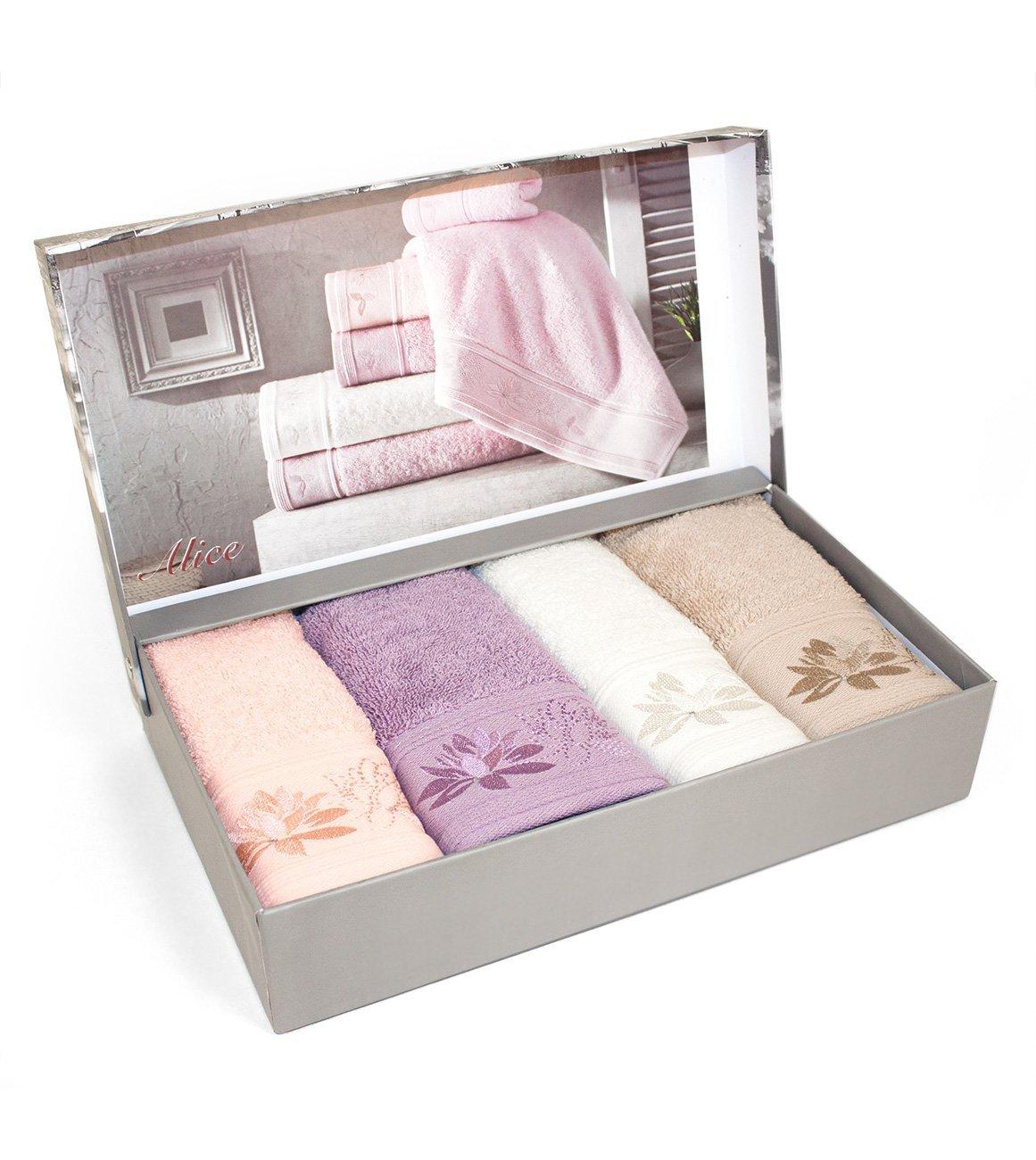 Комплект полотенец (30x50 4шт) Alice со стразами Maison