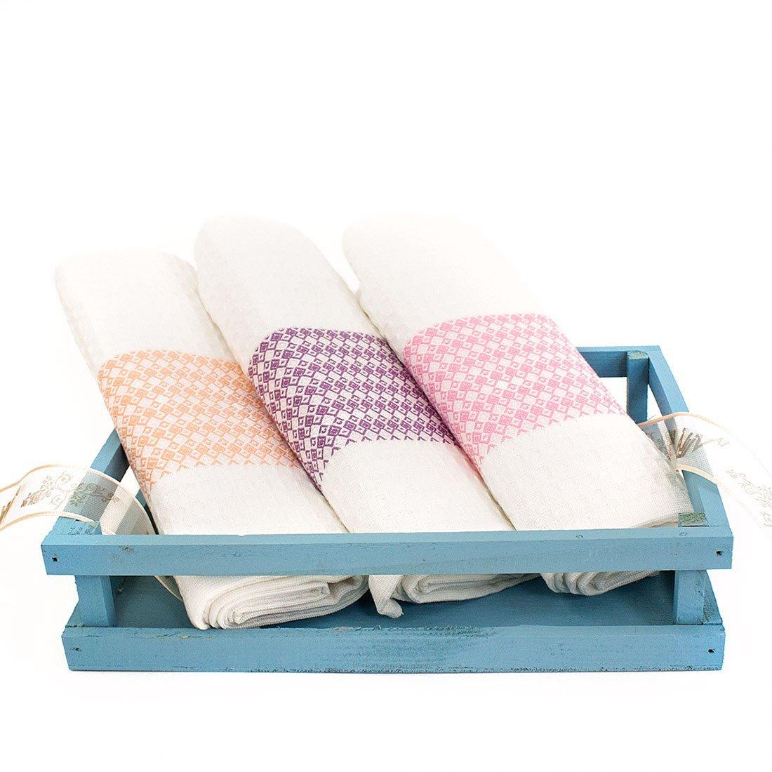 Комплект вафельных полотенец (50x70 3шт) Dimond La villa