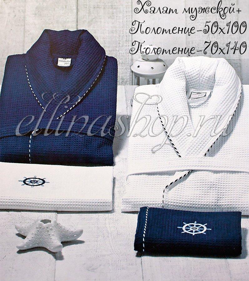 fa134999df5f Marine комплект: халат и 2 полотенца Maison Dor: купить по лучшей ...