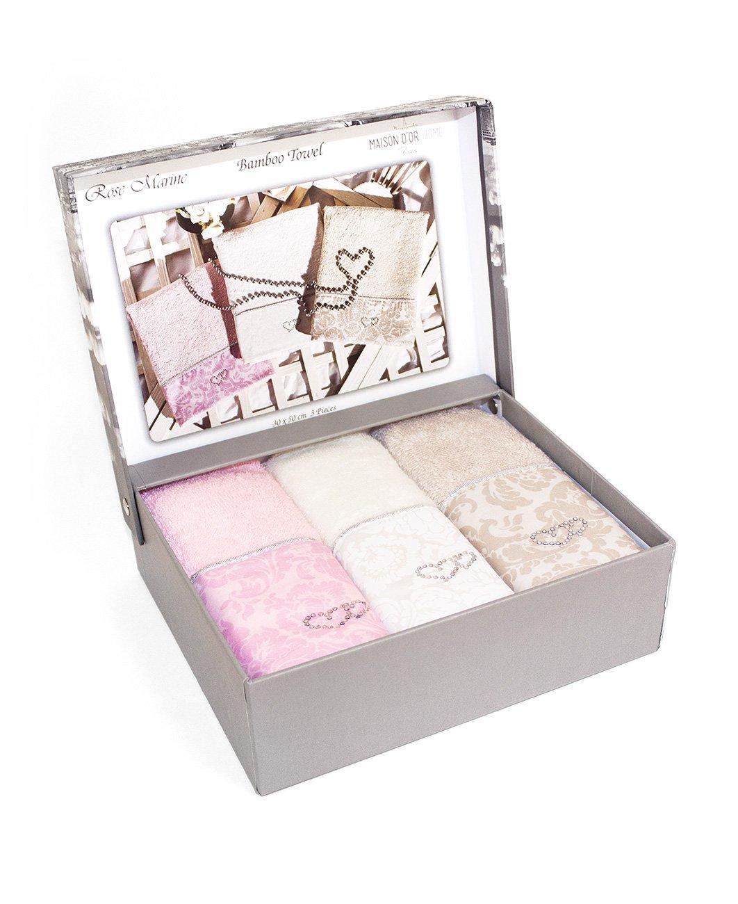 Комплект полотенец Rose marine (30x50 3шт) Maison dor