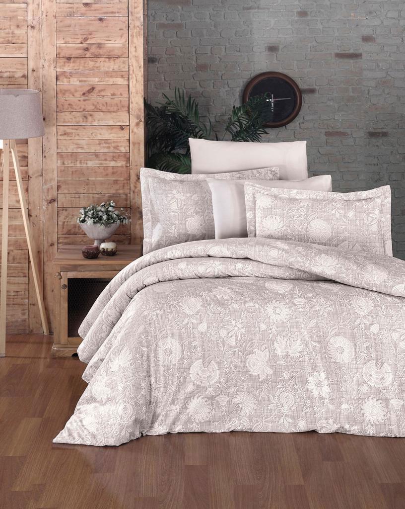 Комплект постельного белья из сатина де Люкс 10858 Lienz кремовый Doco