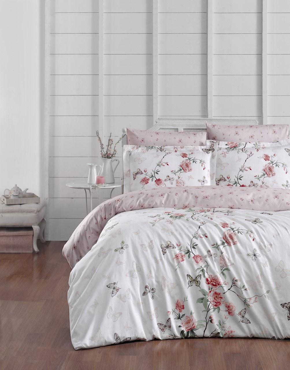 Комплект постельного белья из сатина 10879 Matilde белый Doco