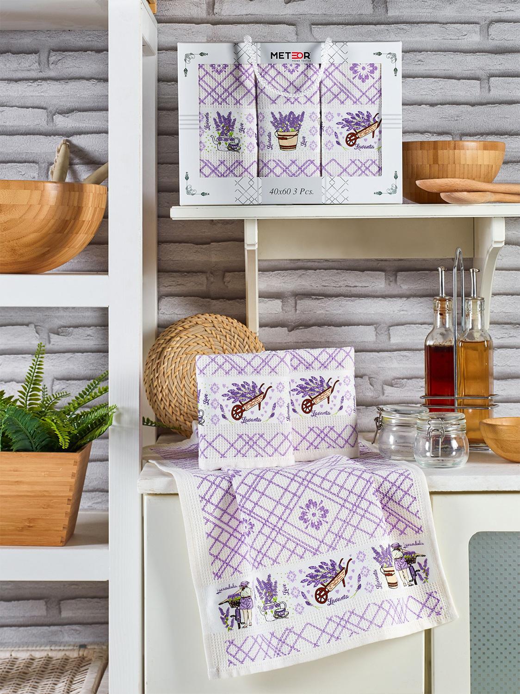 Комплект вафельных полотенец 40x60 (3 шт) 11001 Pietra Lavanta Meteor