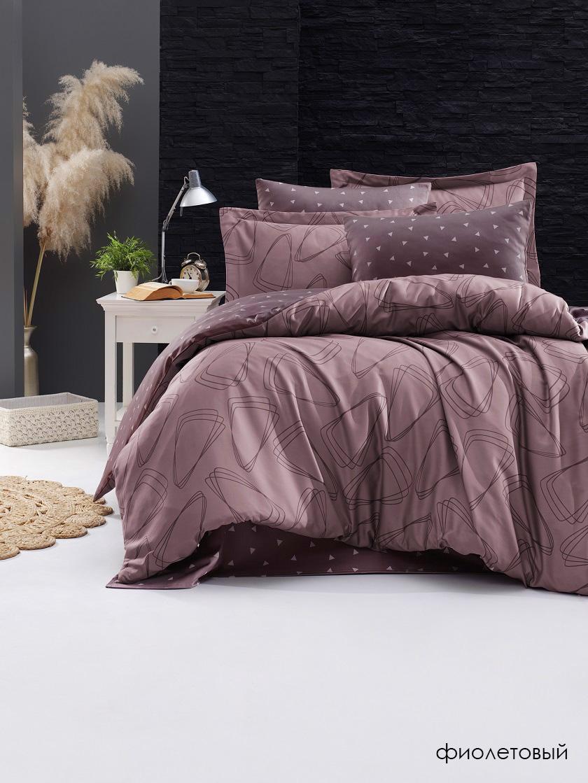 Постельное белье из сатина де Люкс Rovena фиолетовый Doco