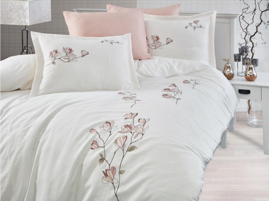 Сатиновое постельное белье с вышивкой 11429 Klever Doco