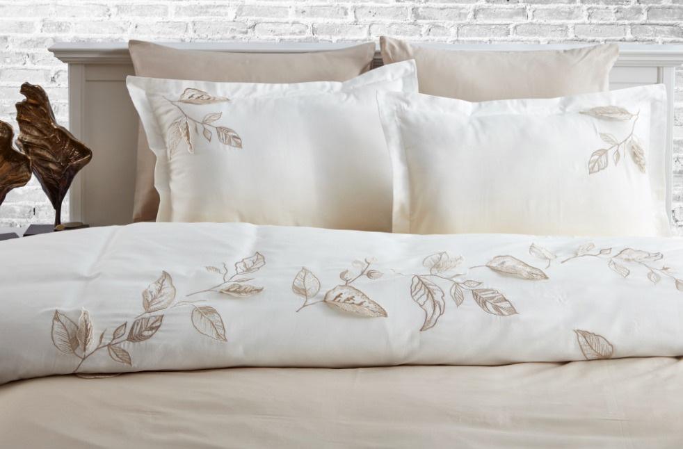 Сатиновое постельное белье с вышивкой 11434 Tutku Doco