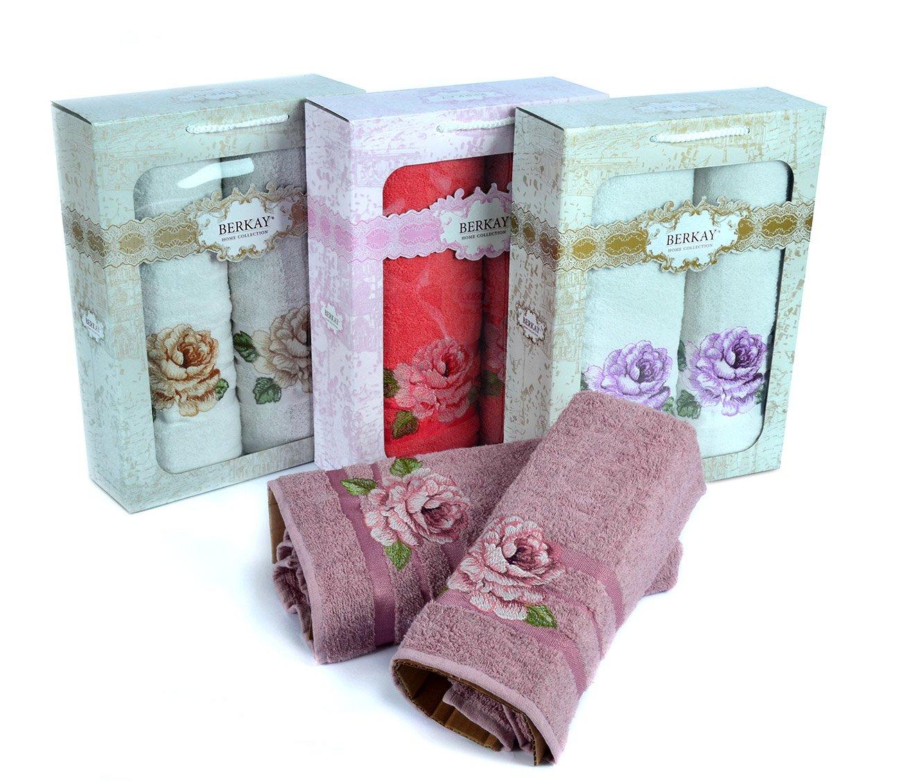 Комплект полотенец  (50x90+70x140) Карвен роза