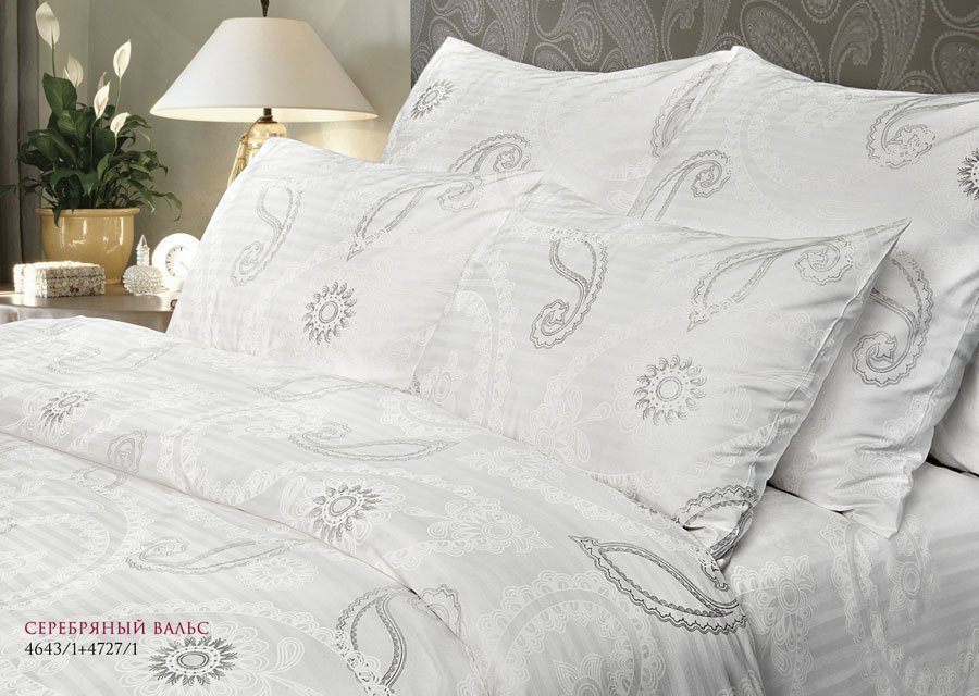 Серебряный вальс постельное белье из страйп-сатина