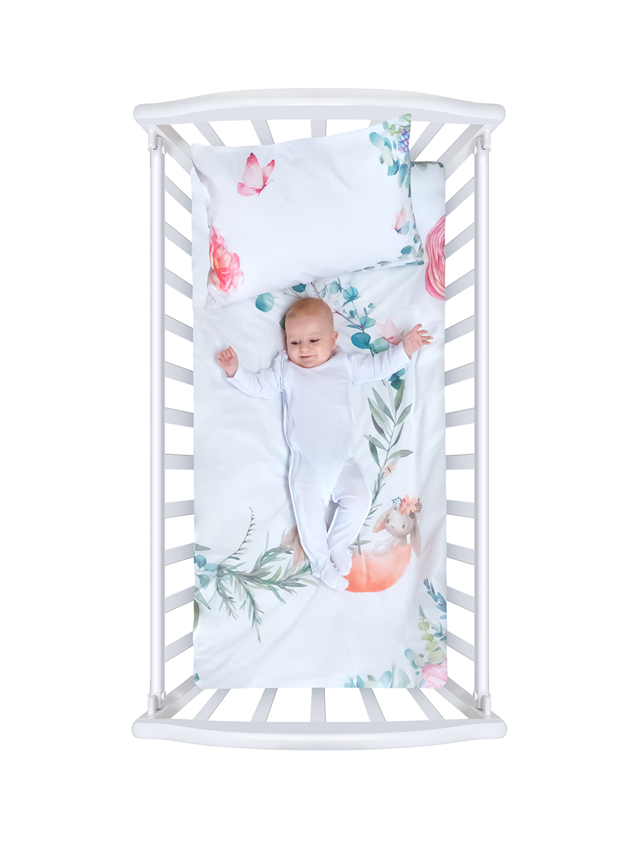 Белье в кроватку из бязи с простыней на резинке Облачко Fairytale Нордтекс