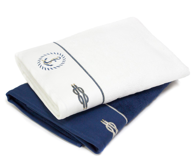 Махровое полотенце с вышивкой (1 шт) Anchor Tivolyo
