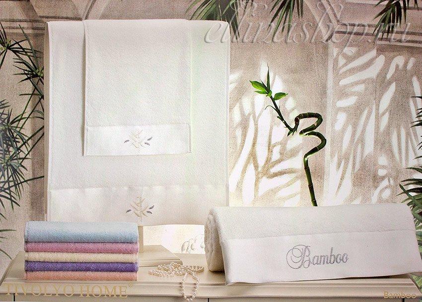 Bamboo 3 предмет. комплект бамбуковых полотенец Tivolyo