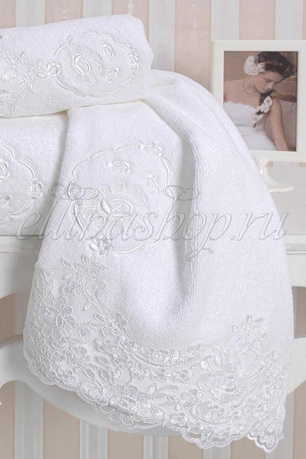 Diana полотенца махровое с кружевом Soft