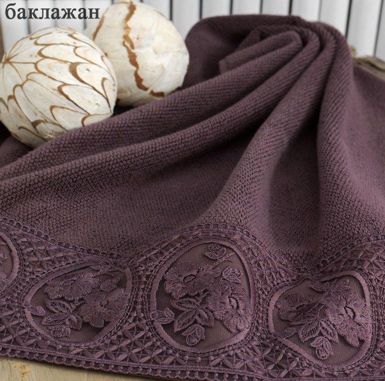 Полотенца махровые, с вышивкой Eliza Soft cotton