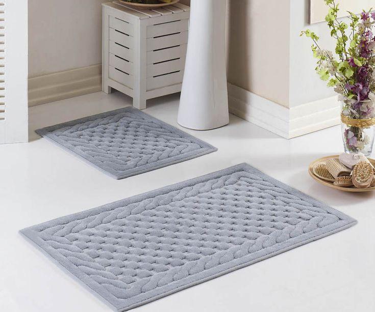Комплект ковриков для ванны (60x100+60x50) Erguvan Tivolyo Home