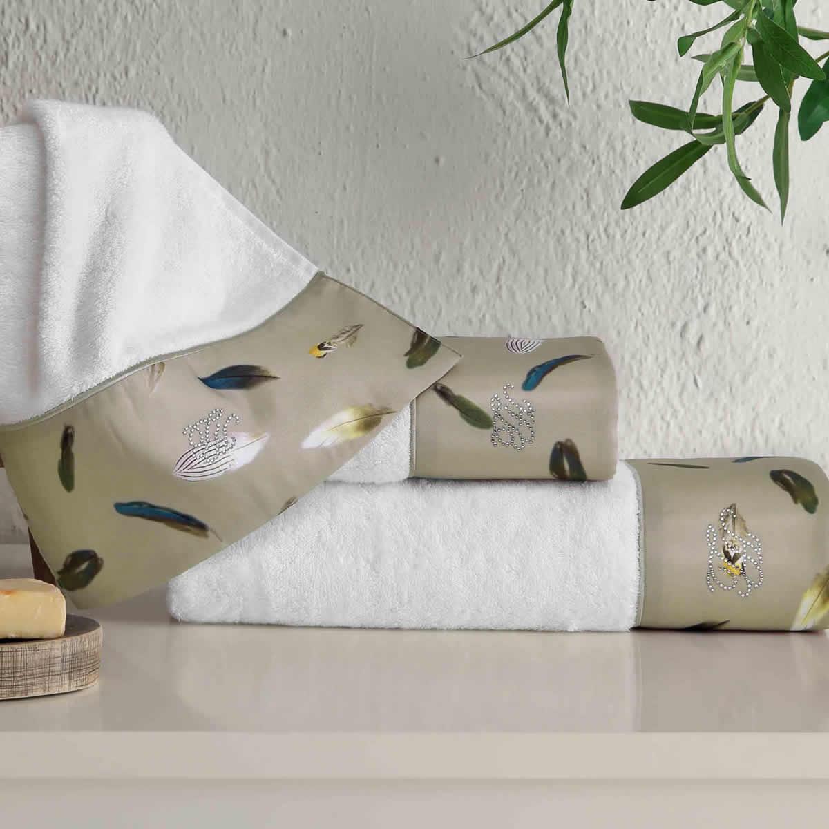Комплект полотенец (30x50, 50x100, 75x150) + ароматический спрей Gala хаки Tivolyo