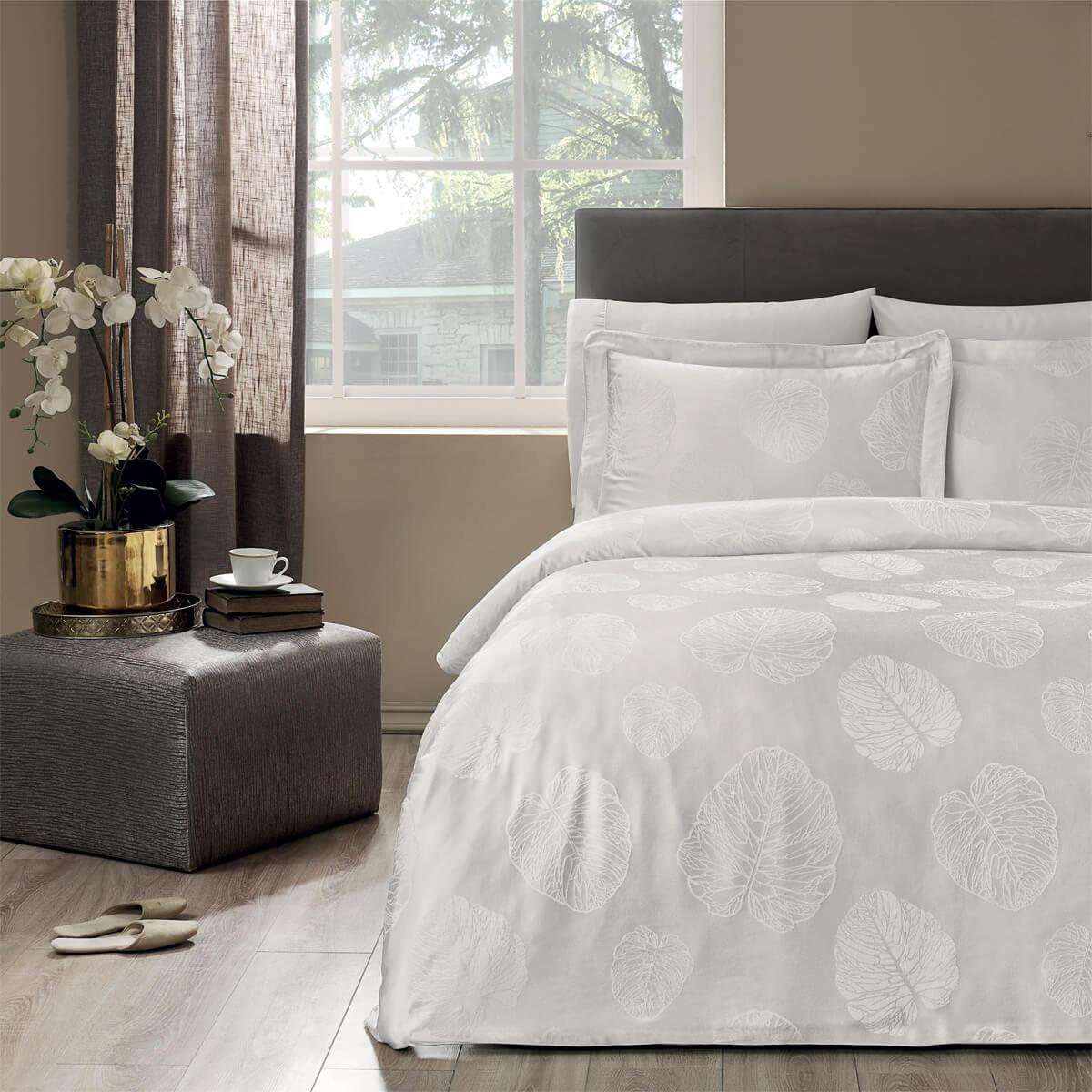 Сатиновое постельное белье с жаккардом Lidia бежевый Tivolyo
