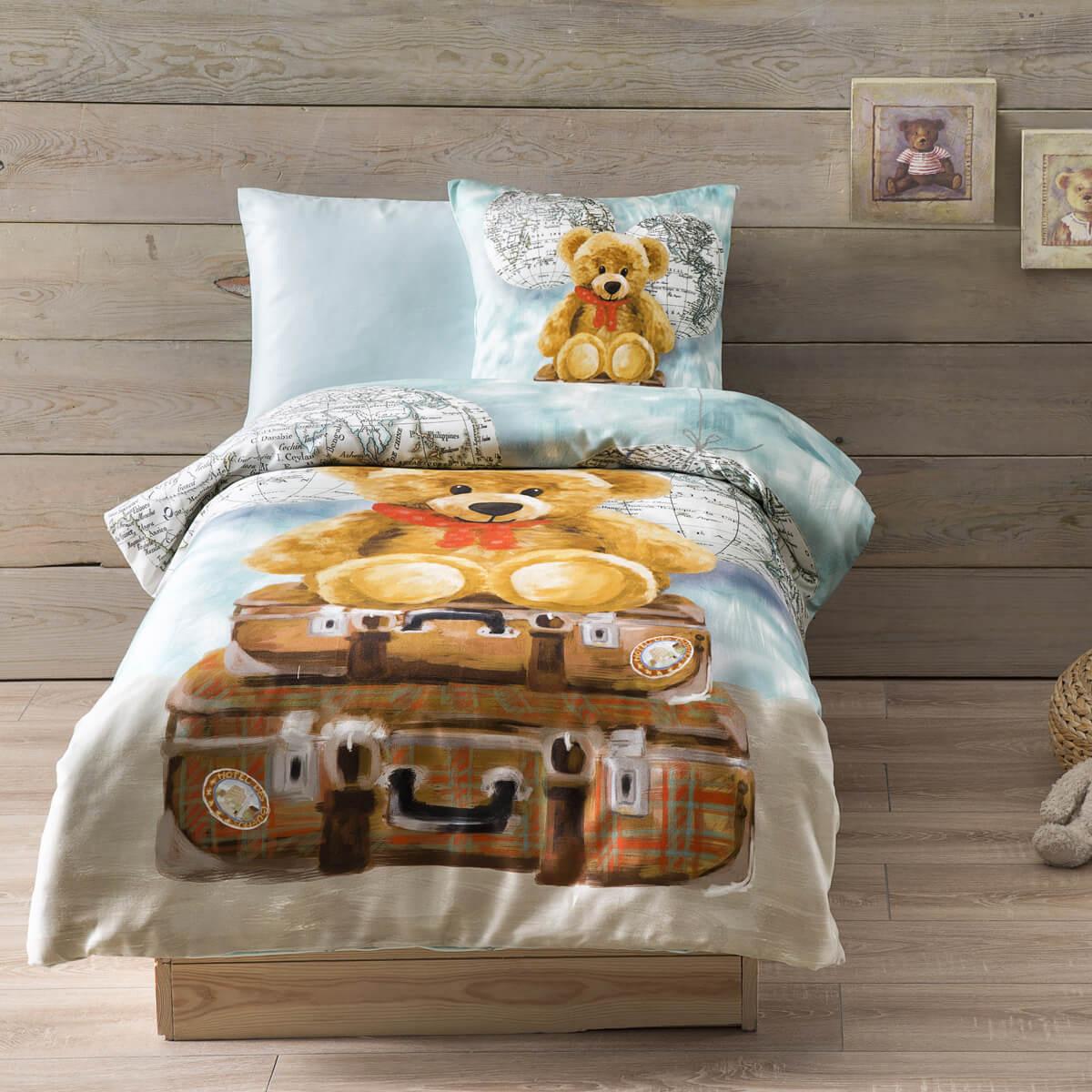 Постельное белье из сатина в кроватку Masha Djitial bebe Tivolyo