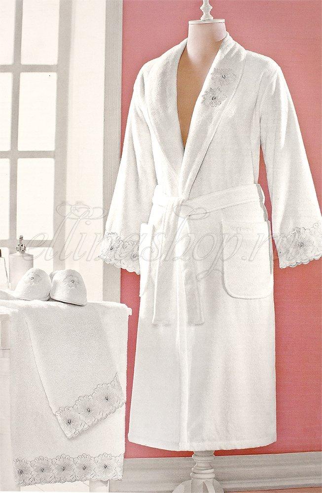 Melody женский длинный махровый халат Soft