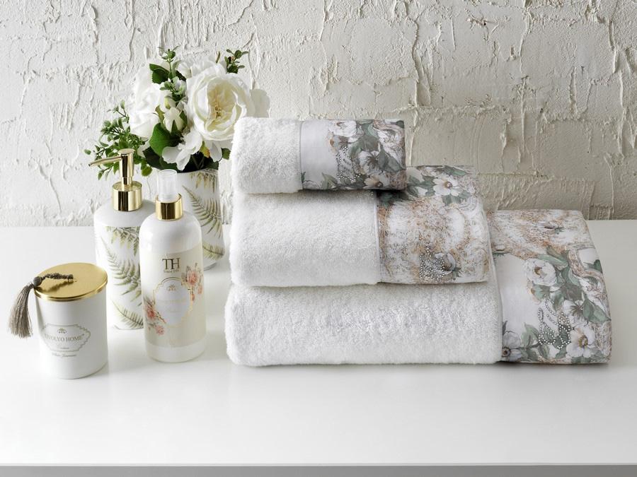 Комплект полотенец (30x50, 50x100, 75x150) + ароматический спрей Nikita Tivolyo