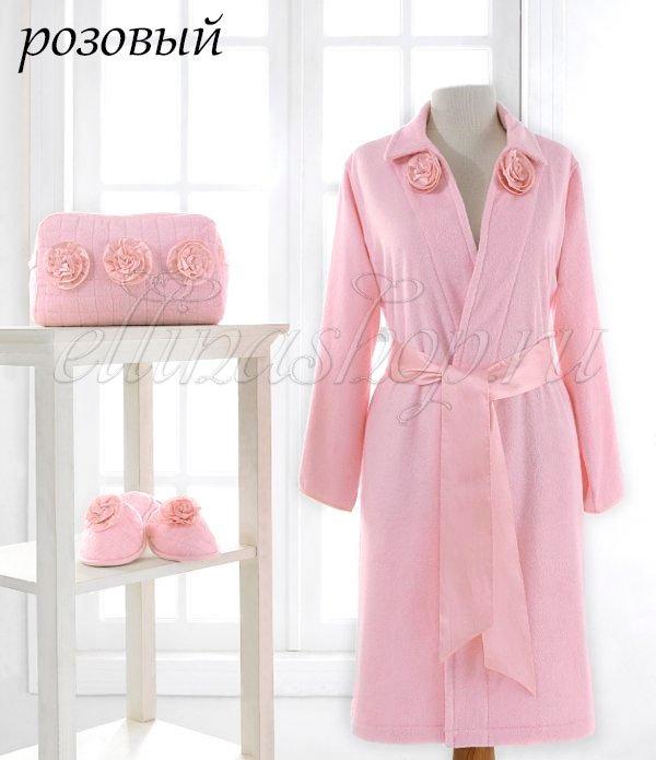 Rose набор (халат+сумочка+тапочки)Soft