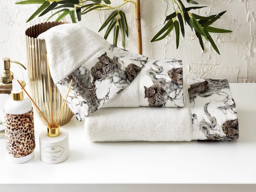 Комплект полотенец (30x50, 50x100, 75x150) + ароматический спрей Salome Tivolyo