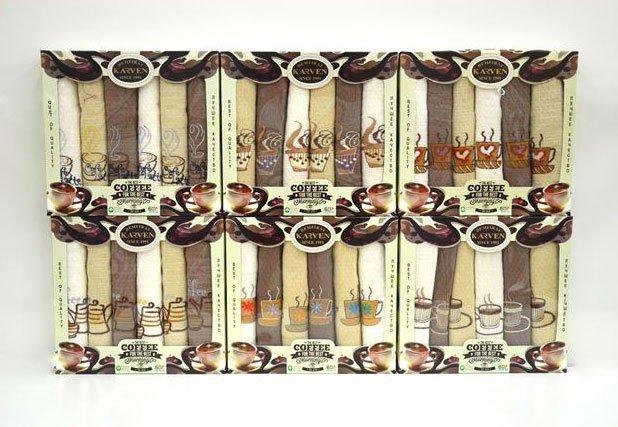 441 Coffe 6шт комплект полотенец Karven