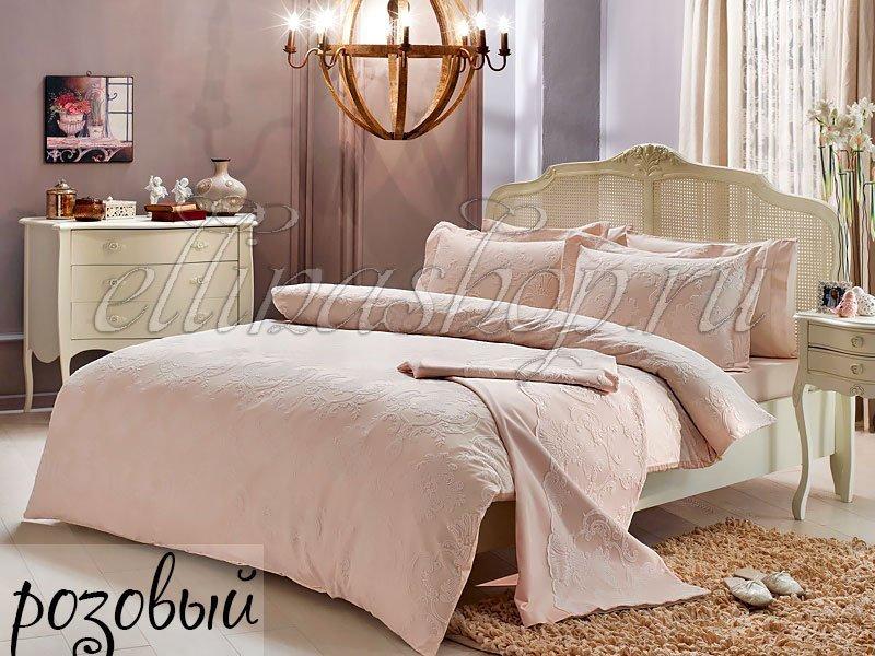 Algardi розовый постельное белье + покрывало Tivolyo