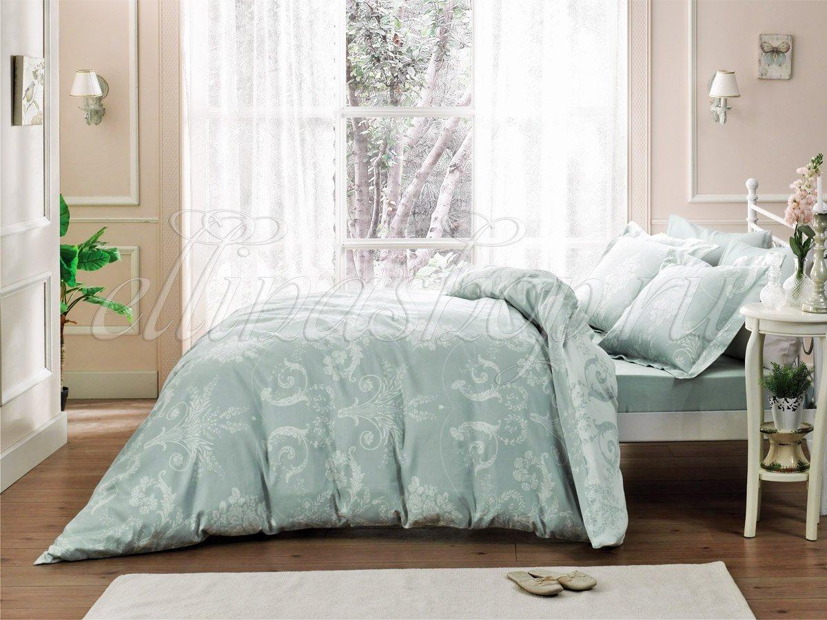 Arredo бирюзовый постельное белье из сатина-люкс Tivolyo